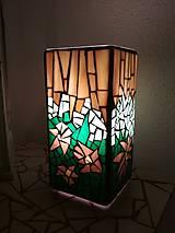 Mozaiková lampa...Tropické kvety