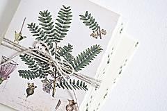 Papiernictvo - Botanický pozdrav/kartička III - 9123052_