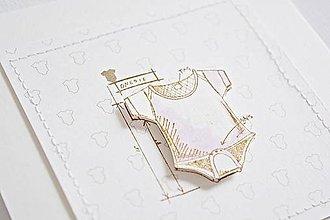 Papiernictvo - Pozdrav pre bábätko - dievčenské body - 9122831_