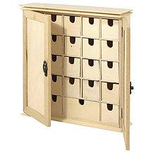 Polotovary - Drevený domček so šuplíkmi FSC - 9120465_