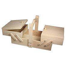 Polotovary - Drevený box nielen na šitíčko, FSC – 2 ks - 9120491_