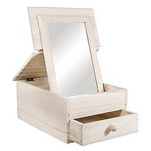 Polotovary - Drevený toaletný box FSC,  so zrkadlom – 2 ks - 9120541_