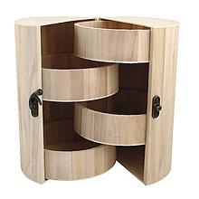 Polotovary - Drevený box na šperky