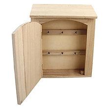 Polotovary - Drevený box na kľúče FSC – 4 ks - 9120849_