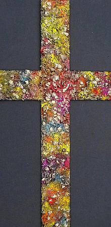 Obrazy - Kríž na stenu farebný - 9123222_