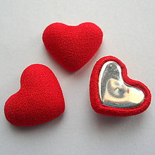 Polotovary - Látkové srdce 15x18mm-1ks - 9121423_