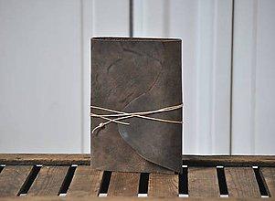 Papiernictvo - kožený skicár KASPAR - 9122361_
