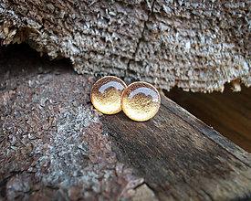Náušnice - Krúžky 12 mm s kovovým efektom (medené) - 9122086_