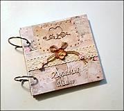 Papiernictvo - Svadobný album 15x15 cm - 9120585_