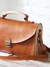 - Kabelka na rameno SATCHEL BAG GOLD BROWN - 9123605_