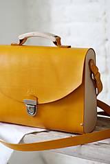 Veľké tašky - Veľká kabelka na rameno MAXI SATCHEL BAG HONEY - 9123828_