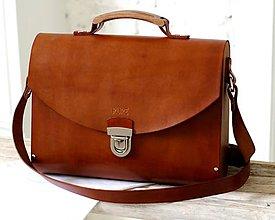 Veľké tašky - Veľká kabelka na  rameno MAXI SATCHEL BAG BROWN - 9123818_