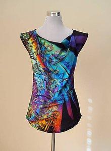 Textil - Panel dizajnový Crystal Kvet tunika - 9123661_