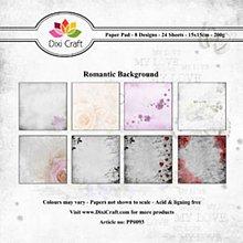 Papier - Sada papierov - Romantic Background 2 (15,2x15,2 cm) - 9121795_