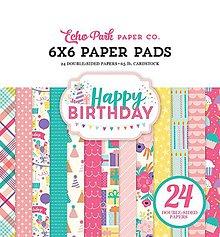 Papier - Sada papierov - Happy Birthday Girl (15,2x15,2 cm) - 9121805_