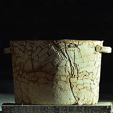 Nádoby - Kameninový obal/ truhlík malý Ovál - Natura 2 - 9123551_