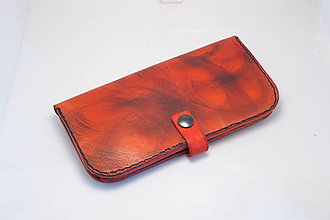 Peňaženky - Dámská kožená peňaženka - červená - 9123599_