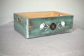 Nábytok - Box střední LILLIAN OLD MINT - 9123231_