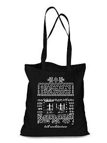 Nákupné tašky - Plátená Ekologická nákupná taška Čičmany okná - 9122713_