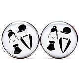 Šperky - Manžetové gombíky podľa vlastných predstáv (kruhové - strieborné lôžko) - 9122978_