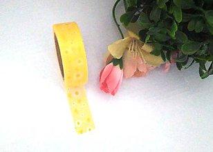 Papier - žlté kvietky - washi, kreativne, dekoračné, ozdobné, papierové lepiace pásky - 9122494_