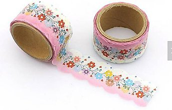 Papier - farebné poľné kvietky, washi - kreativne, dekoračné, ozdobné, papierové lepiace pásky - 9122653_