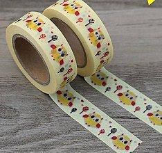 Papier - zvieracie motívy - sova, washi, kreativne, dekoračné, ozdobné,  papierové lepiace pásky - 9122738_