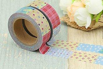 Papier - geometricke farebné tvary,  washi - kreativne, dekoračné, ozdobné, papierové lepiace pásky - 9122864_