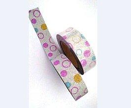 Papier - geometrické farebné tvary, guľka, washi - kreativne, dekoračné, ozdobné, papierové lepiace pásky - 9123116_