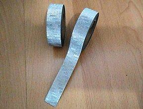 Papier - strieborná páska, washi - kreativne, dekoračné, ozdobné, papierové lepiace pásky - 9123227_