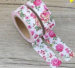 Papier - ruža - kvet, washi - kreativne, dekoračné, ozdobné,  papierové lepiace pásky - 9123322_