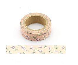 Papier - lenanduľa - provensálsky kvet, washi- kreativne, dekoračné, ozdobné, papierové lepiace pásky - 9123350_