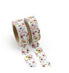 Papier - sirôtky - kvet, washi - kreativne, dekoračné, ozdobné, papierové lepiace pásky - 9123455_