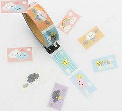 Papier - trhacie nálepky pre detičky, washi, kreativne, dekoračné, papierové lepiace pásky - 9123524_