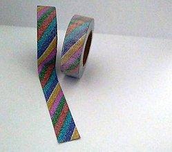 Papier - pásiky farebné, washi - kreativne, dekoračné, ozdobné,  papierové lepiace pásky - 9123575_
