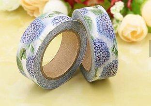Papier - hortenzia - kvet, washi - kreativne, dekoračné, ozdobné, papierové lepiace pásky - 9123648_