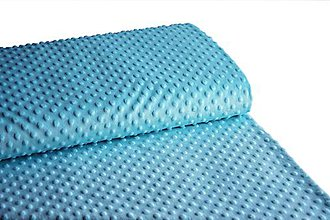 Textil - Minky Tyrkis - 9120457_