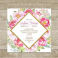 Papiernictvo - Svadobné oznámenie Madeleine - 9123628_