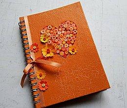 Papiernictvo - Srdiečko - orange, zápisník - 9122454_