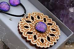Sady šperkov - Rozprávkový kvietok (sada) - fialovo-ružový - 9123930_