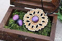 Sady šperkov - Rozprávkový kvietok (sada) - fialovo-ružový - 9123951_