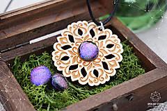 Sady šperkov - Rozprávkový kvietok (sada) - fialovo-ružový - 9123952_