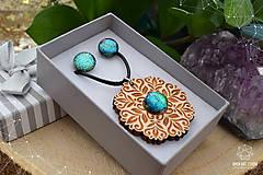 Sady šperkov - Rozprávkový kvietok (sada) - zelený - 9123964_