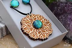 Sady šperkov - Rozprávkový kvietok (sada) - zelený - 9123965_
