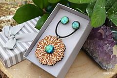 Sady šperkov - Rozprávkový kvietok (sada) - zelený - 9123966_