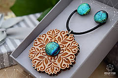Sady šperkov - Rozprávkový kvietok (sada) - zelený - 9123967_