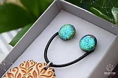 Sady šperkov - Rozprávkový kvietok (sada) - zelený - 9123968_