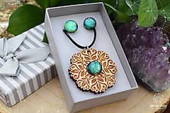 Sady šperkov - Rozprávkový kvietok (sada) - zelený - 9123969_