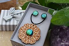 Sady šperkov - Rozprávkový kvietok (sada) - zelený - 9123971_