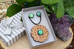 Sady šperkov - Rozprávkový kvietok (sada) - zelený - 9123972_